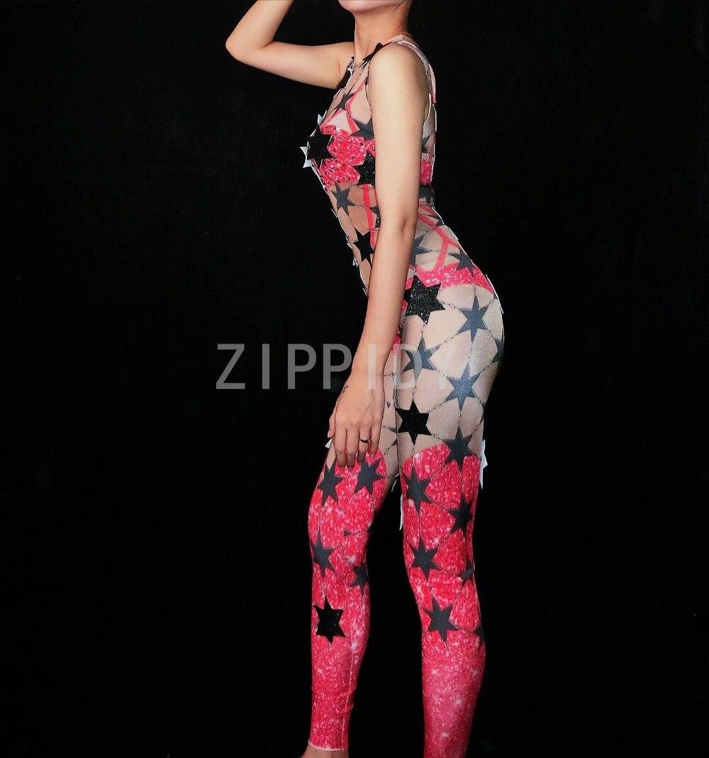 Donne Della Tuta Cantante Mostra Vestiti 2 Colori Star Strass Spandex Senza Maniche Della Tuta Delle Donne Di Compleanno Celebrate Della Fase Di Ballo Prestazioni Affidabili
