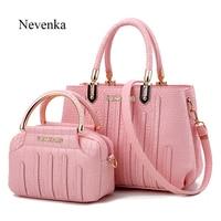 Nevenka Fashion Women Bag Composite Tote Cross Bag Ladies Evening Handbag Shoulder Bags Solid Color Messenger