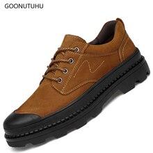 2019 осень-зима, модная мужская обувь, повседневная обувь из натуральной кожи, коровья кожа, коричневый и черный цвет, мужская непромокаемая обувь, большой размер 37-47, обувь для мужчин