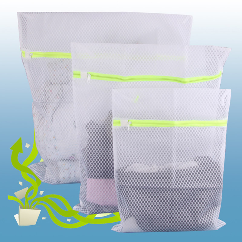 1pcs Nylon Laundry Bag Rectangle Washable Mesh Kit Laundry Basket Basket Bag Laundry Bags Pouch