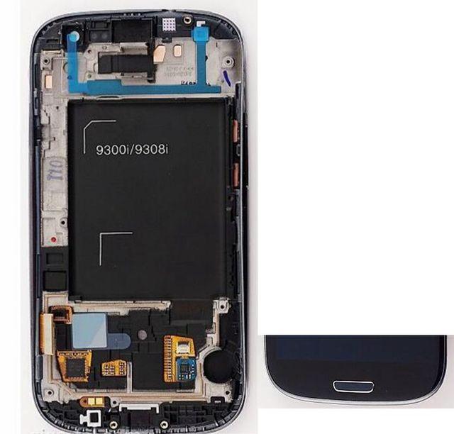 "4.8 ""amoled para samsung galaxy s3 neo i9301 i9300i i9308i i9301i screen display lcd + de toque de vidro + quadro assembléia preto/azul/branco"