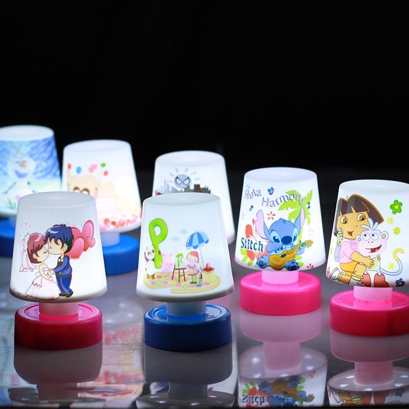 Новый детский подарок мини-мультфильм Светодиодные ночники Симпатичные ПЭТ рыбы кошка свет красочная настольная лампа LED ночник для мальчиков Обувь для девочек
