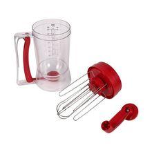 Ручная машина для блинов, 800 мл/26,7 унций, для кексов, воронка, дозатор крема, сепаратор, инструмент, дозатор теста для торта