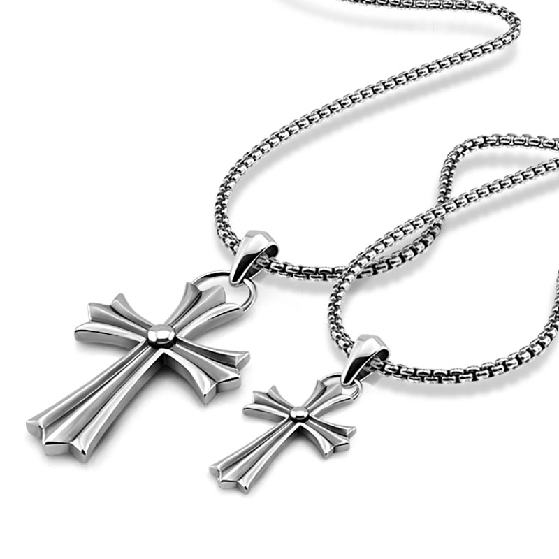 Fashion Vintage Thai Silver Cross Necklace Solid 925 Sterling Silver Cross Pendant Long Chain. Hip hop punk style man jewelry gagafeel vintage 925 sterling silver chain man necklace dragon head thai silver necklace for men jewelry punk style high quality