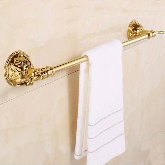 ФОТО Free shipping-New arrival Brass Single towel bar Golden color towel ring Bathroom Accessories-towel holder wholesale-ZP-9324