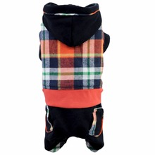 Warm Winter Pet Dog Clothes Dogs Costume Cute Tartan Pets Hoodie Coat Jacket Autumn Jumpsuit Clothing For Puppy Dogs Hoopet