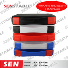 лучшая цена hot sale plastic box Tool case suitcase toolbox Impact resistant hard case equipment box  with pre-cut foam shipping free