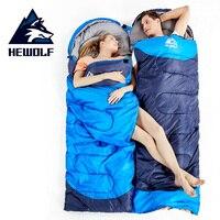 Hewolf 1.3/1.6/1.8kg Camping Sleeping Bag 4 Season Outdoor Hiking Travel Sleeping Bag Waterproof Splicable Single Sleeping Bags Sleeping Bags    -