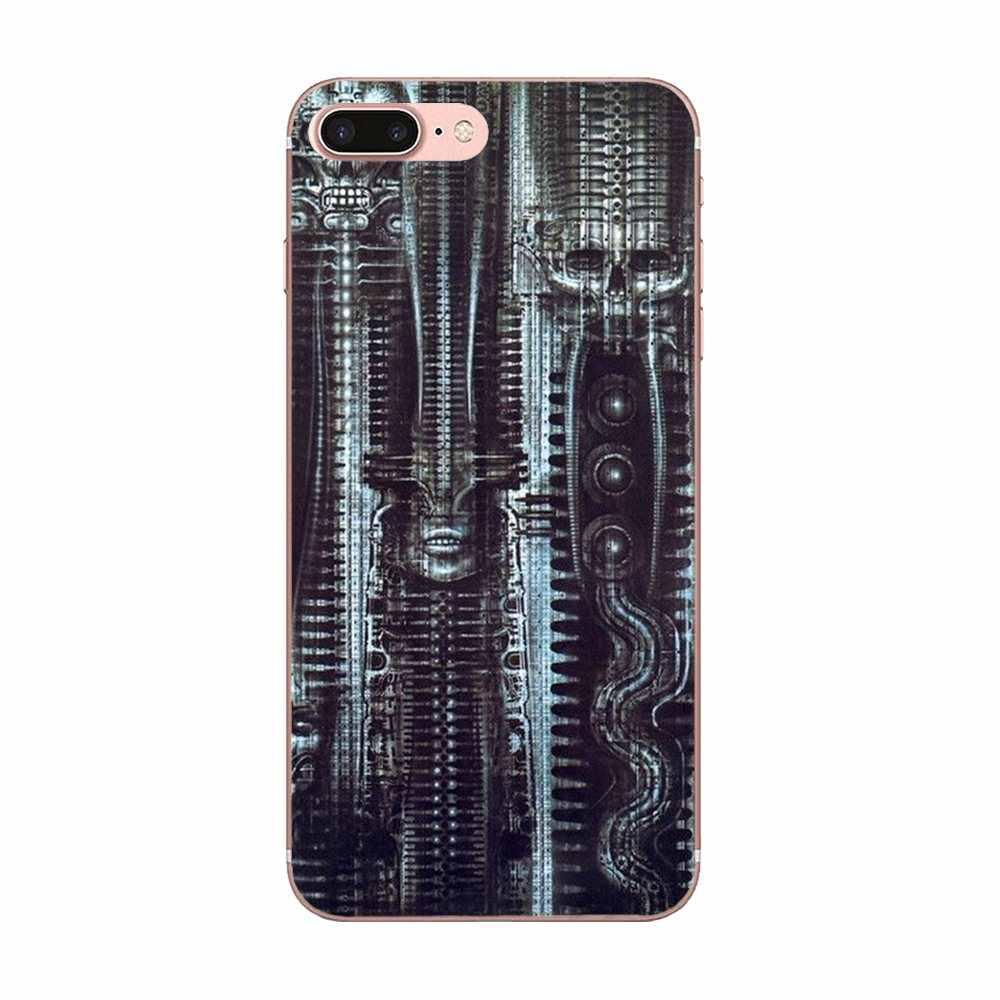 Hr Giger Voor Samsung Galaxy Note 5 8 9 S3 S4 S5 S6 S7 S8 S9 S10 mini Rand Plus lite Zachte TPU Gepersonaliseerde Patroon
