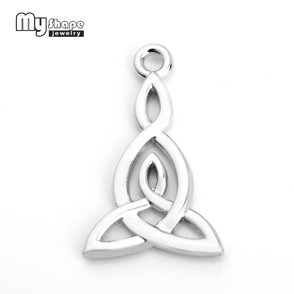 US $4 99 |My Shape Triqueta Charms Metal Witchcraft Pendant Making DIY  Necklace Bracelet Charm Wiccan jewelry For Men Women 30pcs-in Pendants from
