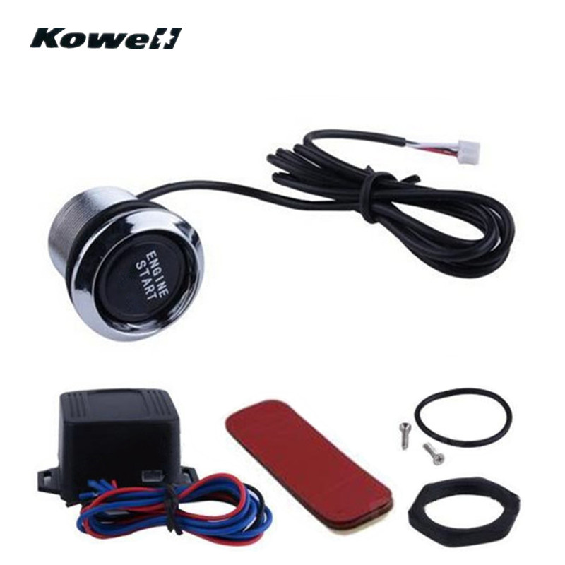 Car Suv Keyless Engine Ignition Power Switch Blue Led: KOWELL Universal 35mm Blue LED Light Car Keyless Engine