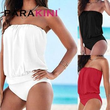 3d90b46c94e8 PARAKINI brasileño niñas trajes Bikini Copa pequeña + alta corte estilo  playa Biquini sólido ...