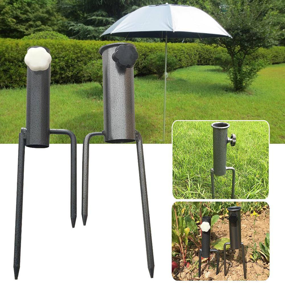 New 1PC Umbrella Holder Camping Fishing Stand Rain Gear Garden Patio Parasol Ground Spike Umbrella Stretch Holder Sun Beach