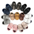 Romirus Band New Arrive Top Quality Baby Moccasin Baby First Walkers Soft Bottom Non-slip Fashion Tassels Newborn Babies Shoes