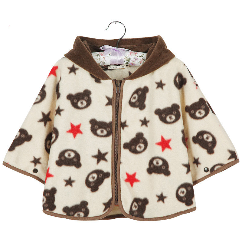 acb2a2170 High Quality Baby girls Cotton Bear Cloak Baby boys Winter hooded Cloak  brand Infant Baby Outwear Newborn Baby Shawls Jacket-in Jackets & Coats  from Mother ...