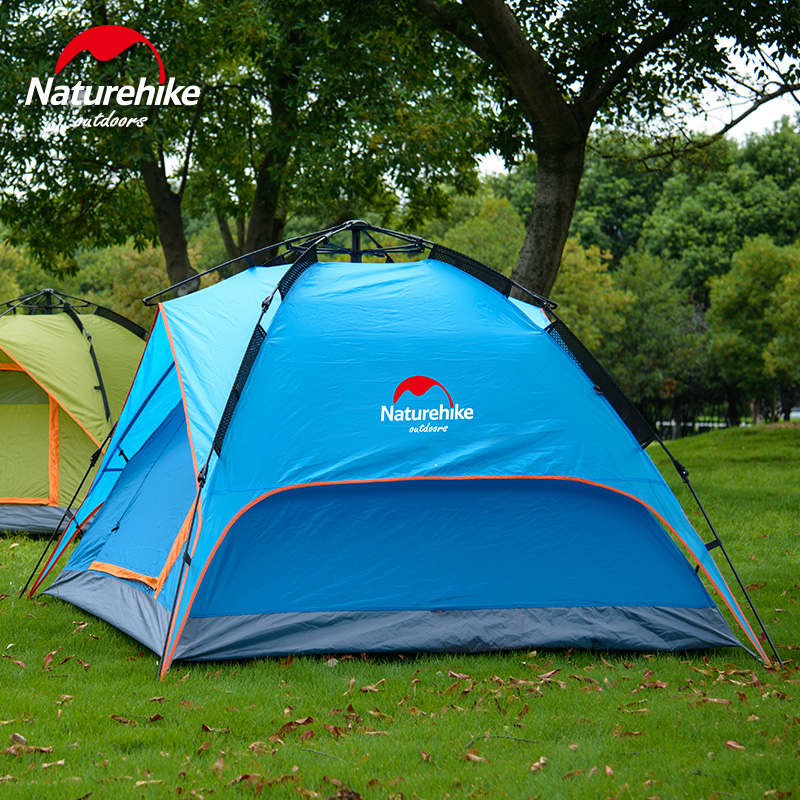 NatureHike Large C&ing Tent Automatic Trekking Outdoor Sleeping Lightweight Hiking Tents C&ing Family-in Tents from Sports u0026 Entertainment on ... & NatureHike Large Camping Tent Automatic Trekking Outdoor Sleeping ...
