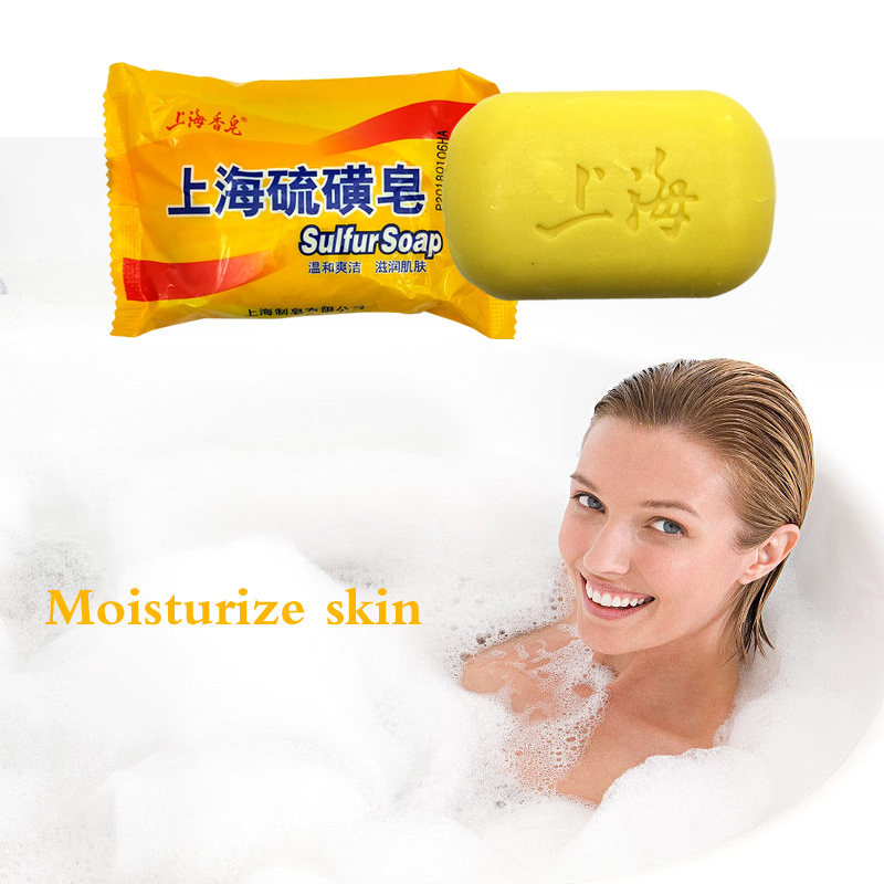 1Pc Shanghai Sulfur Skin Psoriasis Acne Psoriasis Soap Seal Epidemic Fungi Fragrance Butter Bubble Bath Healthy Soap Making