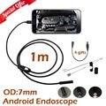 Usb câmera endoscópio 1 m 2 m cabo endoscópio câmera android telefone inteligente para galaxy s5 s6 note4 note5 usb câmera endoscópio