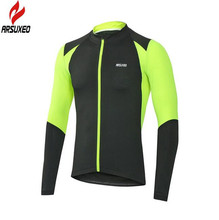 ARSUXEO Mens Cycling Bicycle Autumn Jersey Outdoor Sports Running Training Quick Dry Long Sleeve Clothing