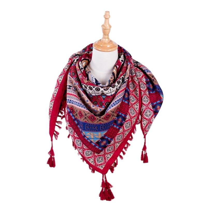 Women's Ethnic Style Tassel Scarf 6