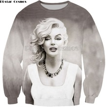 edcb8117a2b9 PLstar Cosmos 2018 New Fashion 3D Sweatshirt New design Sexy actress Marilyn  Monroe print Mens Womens