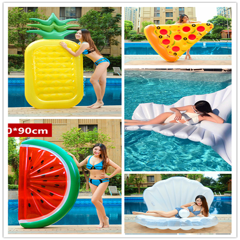 12 Style Giant Swan Watermelon Floats Pineapple Flamingo Swimming Ring Unicorn Inflatable Pool Float For Child&Adult Water Toys