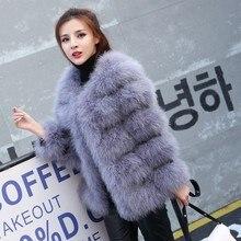 Осенне-зимнее женское пальто из натурального меха страуса, длинное шерстяное меховое пальто, зимняя меховая куртка из страуса