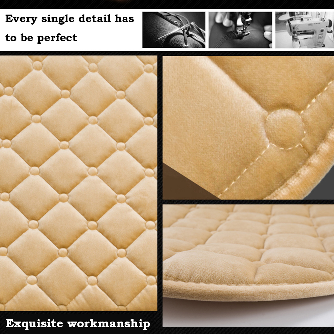 Image 2 - Dewtreetali 1pc Winter Warm Velvet Front Car Seat Cover Protector Driver Seat Cushion Pad Breathable Winter Chair Cushion-in Automobiles Seat Covers from Automobiles & Motorcycles