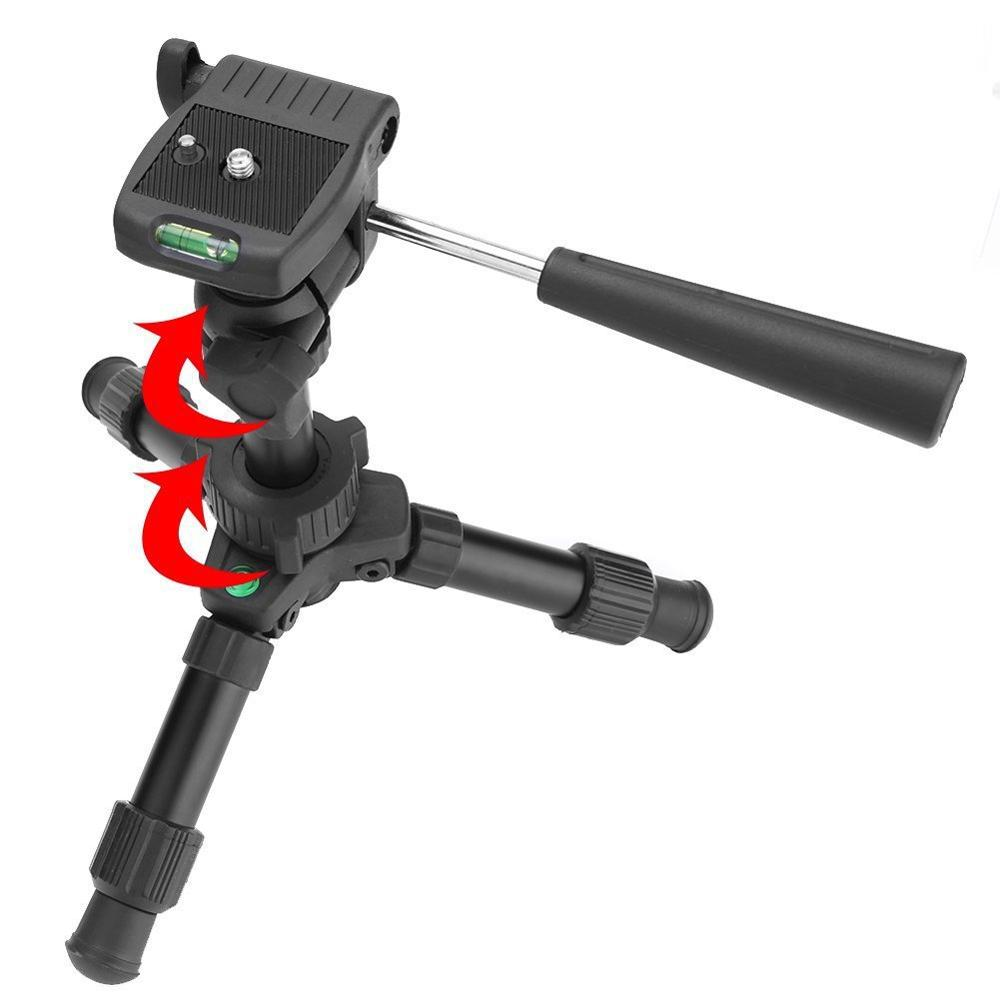 Mettzchrom tripod aluminum alloy mini desktop DSLR camera for photography