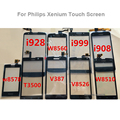 Для Philips Xenium V387 w8560 w8510 i999 i908 v8526 t3500 i928 Outter w6618 Стекло Лен Планшета Сенсорной Панели + логотип для philips