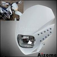 Universal H4 Headlamp Motorcycle Headlight Fairing For Yamaha Honda Suzuki Kawasaki WR YZ YZF KLX XR CRF MX TTR TW Lighthouse