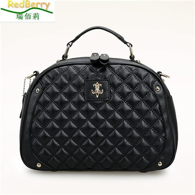 New Brand Casual Women Bags Genuine Leather Diamond Lattice Messenger Bag Lady Fashion Shoulder Bag Solid Hot Sale Crossbody Bag 2015 brand new golden goose casual fashion genuine leather women