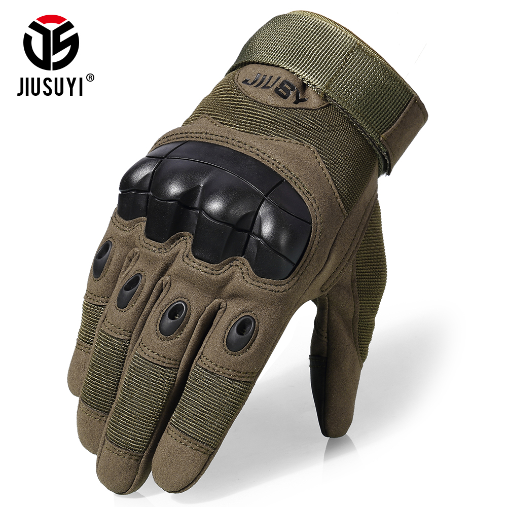 Touch Screen Anti-Skid Tactical Rubber Hard Knuckle Full Finger Gloves Military Army Paintball Airsoft Shooting Combat Work Gear