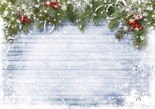 Kate Wood Christmas Photography Backgrounds  Decorations For Home Backdrops Balls Snowflake Background