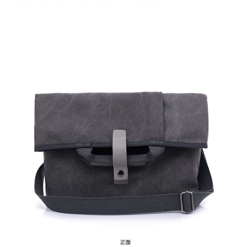 New Zipper Canvas Shoulder Men s Bag Casual Minimalist Solid Color  Crossbody Bag Fashion Street Trend Folding Crossbody Bag 90fcb5d270643
