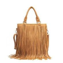 Fashion Women PU Leather Tassels Bag Hobo Clutch Handbags Shoulder Tote Ladies Messenger Bags LXX9