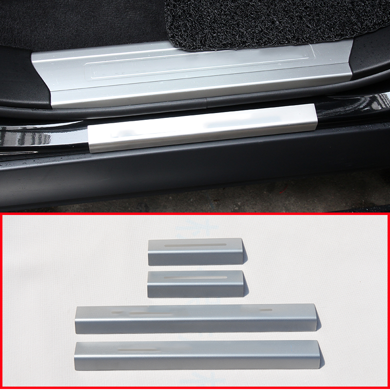 Stainless Steel Outside Door Sill Scuff Plate For Range Rover Sport Vogue 2014-2017 Car Accessories Styling for land rover range rover sport stainless inside door sill scuff plate 2014 2017 4pcs silver black