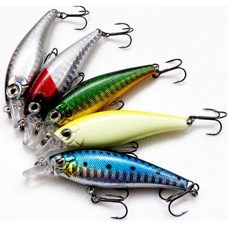 5Pcs/lot High Quality Minnow Fishing lures ABS Plastic Hard Bait Carp Fishing tackle Leurre Brochet Isca Artificial 7cm 7g-in Fishing Lures from Sports & Entertainment