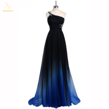 Bealegantom 2019 Hot S Gradient Blue Chiffon Prom Evening Dresses Beaded Plus Size Ombre Party Gowns Vestido Longo QA1398
