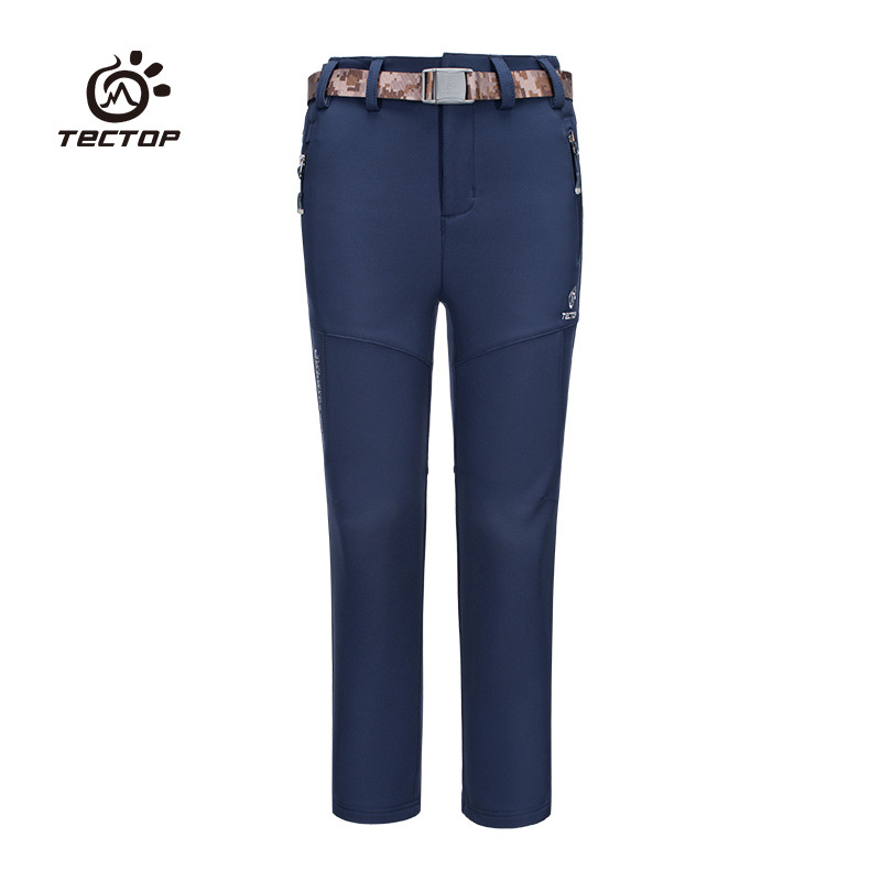 TECTOP 2017 Kids Waterproof Windproof Classic Softshll Boy Girl Trousers Outdoor Fashion Quick drying Comfortable Child