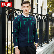 2017 New Sweater Men Pullover Brand Clothing Mens Sweaters Pull Homme with Deer O-neck Casual Full Cotton Spring Top Fashion