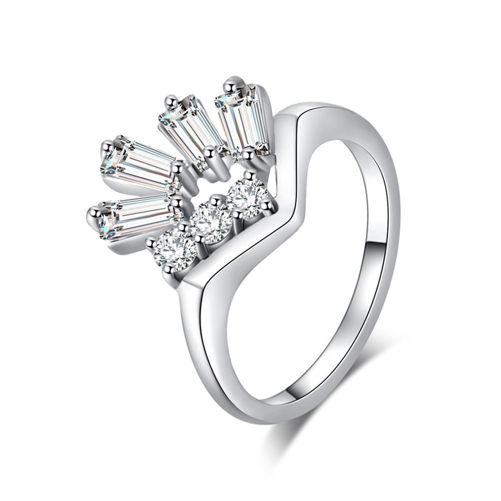 Forme Amour Fiançailles réglable cristal pour les femmes mariage bijoux anneaux
