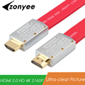 Zonyee High End HDMI To HDMI Flat Cable Support 4k 3D 60FPS HDMI 2.0 Cable HDTV LCD Monitor Laptop PS3 Projector Cable 5M 8M 10M