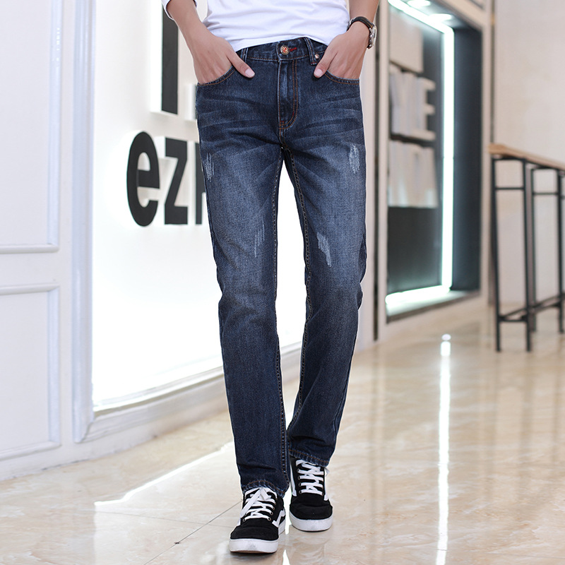 2017 Rushed Special Offer Zipper Fly Mid Design Famous Brand Jeans Men Cotton Denim Mens Slim Fit Quality Straight Italian For classic design famous brand jeans men 99%cotton fashion denim mens jeans slim fit high quality straight italian jeans for men