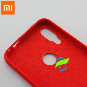 Image 5 - Xiaomi Redmi not 7 durumda sıvı silikon koruyucu kılıf için XIAOMI Mi 9 Pro Max3 PocoPhone F1 A2 Lite silikon arka kapak kılıf