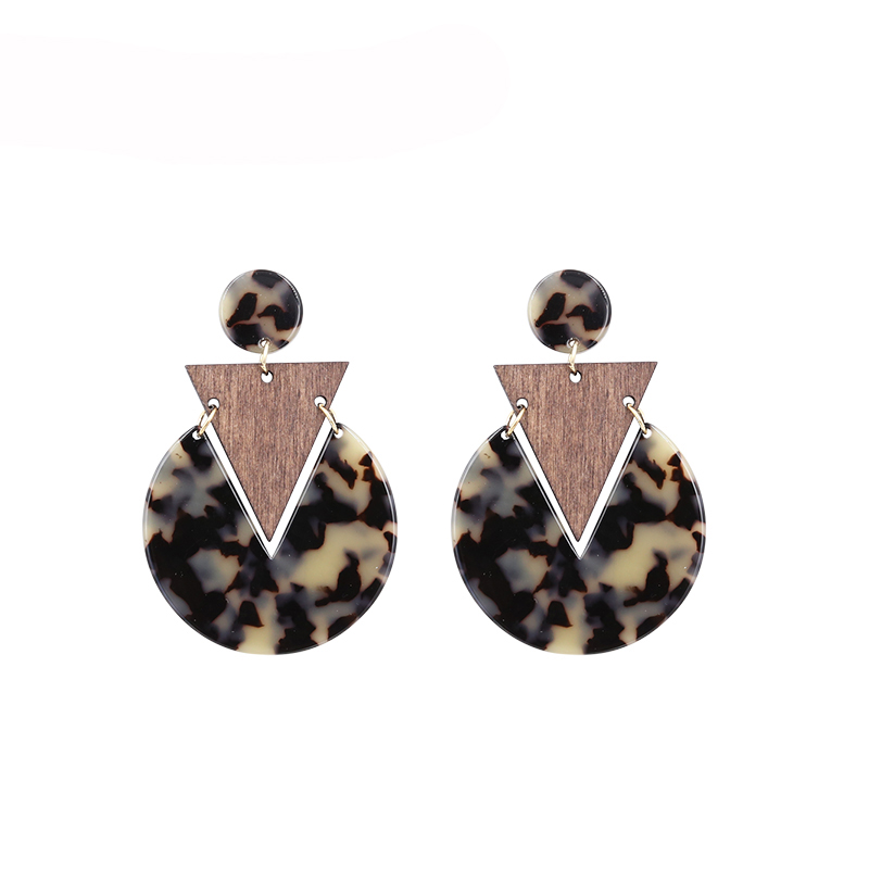 Handmade Leopard Acrylic Earrings For Women Vintage Rectangle Acrylic Earring Resin Big Earing Boho Jewelry in Drop Earrings from Jewelry Accessories