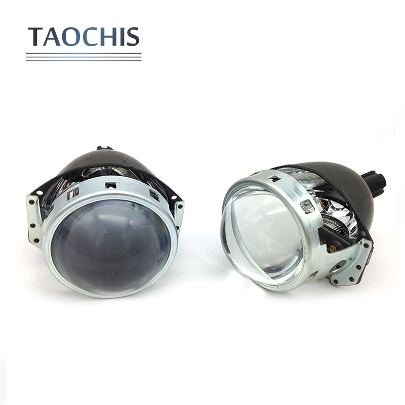 2pcs/lot Car Headlight 3.0 inch Aluminum Bi-xenon Projector Lens 6000K Motorcycles Head Light with 2*S21 Hid Xenon Bulbs for chevrolet cruze tuning bi xenon projector lens head lights with led turn light 2015 year new arrival