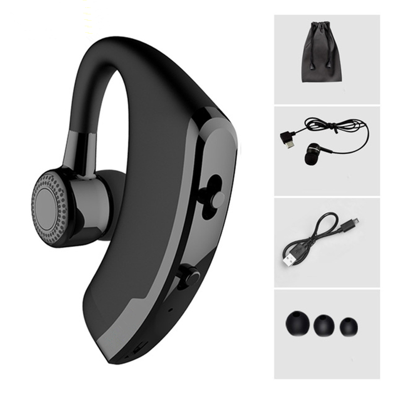 V9 Handsfree Wireless Bluetooth Earphones Noise Cancelling Business Wireless Bluetooth Headset with Mic for Driver Office Sports