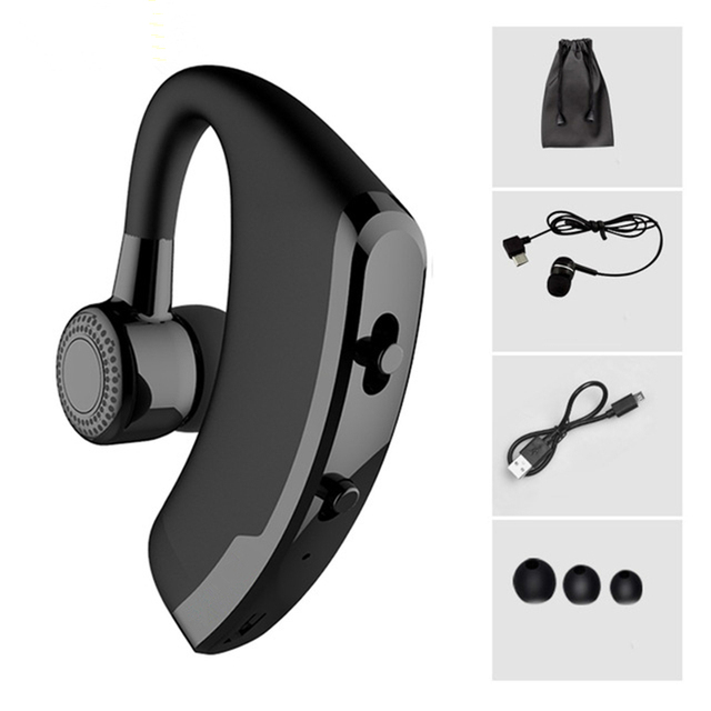 Business Wireless Bluetooth Headset with Mic for Driver Office Sports Handsfree Wireless Bluetooth Earphones Noise Cancelling