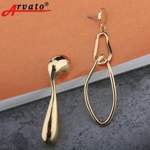 Фотография Arvato 2018 new women asymmetrical drop long earrings Korean exaggerated metal earrings christmas gift
